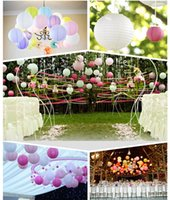 Wholesale Chinese Paper Lanterns 12 - Paper Lantern 8 10 12 14Incht Gold Silver Birthday Party Decorations White Chinese Lantern Supplies Wedding Decoration