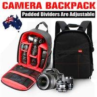 красный рюкзак для камеры оптовых-Красный водонепроницаемый противоударный SLR DSLR камеры мешок случае рюкзак для Canon Sony Nikon