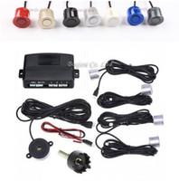 sonnerie d'expédition achat en gros de-4 capteurs Buzzer 22mm Kit de capteur de stationnement de voiture Reverse Backup Radar Alerte sonore Système de sonde d'indicateur 12V 7 couleurs, livraison gratuite