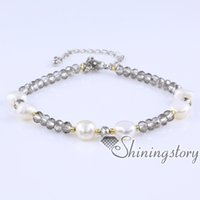 Wholesale pearl beads online - freshwater pearl bracelet small pearl bracelet with crystal beads pearls jewelry online pearls bridal jewellery