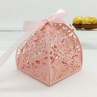 Wholesale Decorative Paper Gift Boxes - Wedding favor candy box mini laser engraved gift box party favors creative chocolate box decorative gift boxes can put 2 PC FERRERO ROCHER