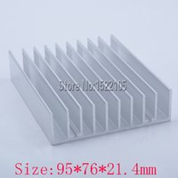 Wholesale Processor Price - Wholesale- Heatsink 95x76x21.4mm Aluminum heatsink heat sink radiator for Electronic cooling Ex-factory price
