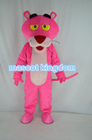 Wholesale Black Panther Mascot - Pink Panther Mascot Costume Cartoon Fancy Dress Outfit Free Shipping Adult Size