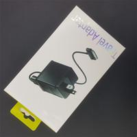 продажа планшета samsung оптовых-Для планшетных ПК зарядное устройство комплект ЕС США Великобритания подключите адаптер зарядки настенные зарядные устройства 1 м usb дата syne кабельная линия для samsung galaxy tab P1000 P7500 продажа