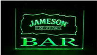 luces de barra de neón irlandés al por mayor-BAR Jameson Irish Whisky bar cervecería pub club signos 3d led luz de neón signo decoración del hogar artesanía