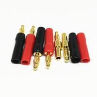 fio de ouro hdmi venda por atacado-10 Pçs / lote Alta Qualidade de Solda Livre de Ouro 4mm Banana Plug Audio Lanternas Plug Acústica Conectores de fio