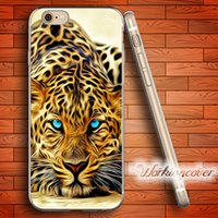 Wholesale Iphone 4s Covers Animals - Fundas Animal Leopard Art Soft Clear TPU Case for iPhone 6 6S 7 Plus 5S SE 5 5C 4S 4 Case Silicone Cover.