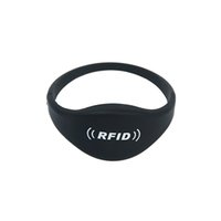 Wholesale Nfc 1k - Factory Price 100pcs Lot 13.56MHz NFC MF 1K S50 Wristband Rewritable Chip Smart Silicone Wristband ISO14443A Waterproof