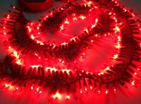 Wholesale Led Lighting Drapes - 10 CM 150 lamps Belt rich canon clays refractory drapes hangers electronics lamp decoration wedding holiday lights 2PCS(1 pair)