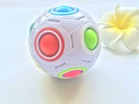 Wholesale puzzle games online - 2017 Rainbow Ball Magic Cube Speed Football Fun Creative Spherical Puzzles Kids Educational Learning Toy game for Children Adult Gifts