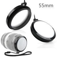 Wholesale wb wholesale - Wholesale-55mm White Balance WB Lens Cap for SLR DSLR DC DV Camera LENS 55 MM