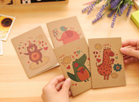Wholesale Giraffe Books - Wholesale- Cute Animals Elephant Dinosaur Giraffe Bear Notebook Exercise Book Notepad with Lined Paper Stationery For Kids Gift