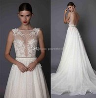 Wholesale Tulle High Low Bridal Skirt - sheath wedding dresses 2017 muse berta bridal cap sleeves illusion jewel neck sweetheart neckline heavily embellished bodice open low back