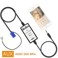 Wholesale Iso Seat - VW Audi Skoda Seat ISO 8Pin 3.5mm Aux in Car MP3 Player Adapter Stereo Radio MP3 iPod iPhone iPad Aux-in