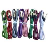 Wholesale Hdmi Cable Mix - Fabric Aux Cable 3.5mm to 3.5mm Auxiliary Audio Cable Data Cord Stereo Cable For Smartphone Samsung S5 note 4 Huawei