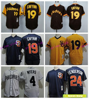 Baseball black dave - San Diego Padres Throwback Baseball Jersey Tony Gwynn Rickey Henderson Dave Winfield Mesh Wil Myers Matt Kemp Cool Base Jersey