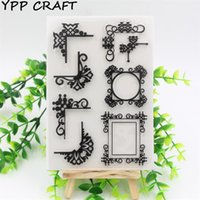 Vente en gros - YPP CRAFT Transparent Clear Silicone Stamps pour DIY Scrapbooking / Card Making / Kids Christmas Fun Decoration Supplies