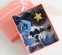 Wholesale Children s hair accessories jewelry gift box sets South Korea princess crown hairpin baby hair clip hair rope headdress flower of the girl