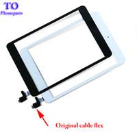 Wholesale Ipad Mini Digitizer Flex - For iPad mini 1 mini 2 Touch Screen Panel Digitizer Glass Panel Lens Sensor Repair + IC +Home Button Flex free shipping