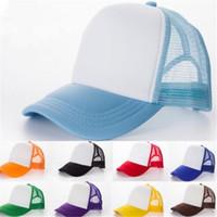 Wholesale Vintage Trucker Hats - Trucker Baseball Golf Mesh Cap Blank Unisex Classic Designer Hat Snapbacks polyester Vintage for Men Volunteers Fashion Cap DHL Free