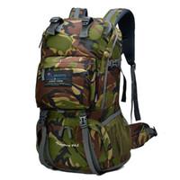 Wholesale Tennis Backpacks Pink Black - 2017 40L Internal Frame Climbing Bag Waterproof Terylene Material Unisex Travel Camping Sport Outdoor Backpack with Rain Cover