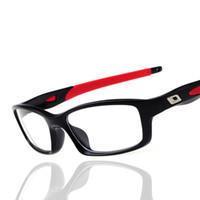 Wholesale Femme Mirror - Wholesale- New Fashion Silicone Sport Glasses Men Women Optical Mirror Acetate Gamming Myopia Glasses Frame Eyeglasses lunette de vue femme