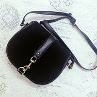 Wholesale Vintage Saddle Bags - Black Vintage Woman Saddle Mini Crossbody Bag Pig Packets PU Leather Small Bag High Quality Ladies Shoulder Bag CT22389