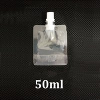 Wholesale Spout Pouch Wholesale - 50ml clear plastic stand up pouch with top spout doypack beverage drink liquid sample packaging pouch bag