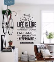 spanish cartoon character - Life Is Like Riding A Bicycle Quote Wall Sticker Spanish Vinyl Wall Decal Stickers For Kids Living Room