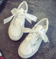 Wholesale Shoelace Leather - High quality ladies casual shoes bowknot shoelaces size 36-39