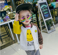 Wholesale Assorted Clothing Wholesale - Children fashion outwears baby boys cotton assorted colors smiling face long sleeve zipper cardigan jackets 2017 autumn kids clothes C0582
