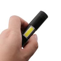 yanıp sönen çalışma lambaları toptan satış-Kalem Işıkları Taşınabilir fener 4 Modu Mini LED El Feneri Torch Q5 COB Flaş Işık Avcılık Kamp için su geçirmez LED Çalışma Lambası