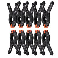 Wholesale Photography Stand Backdrop Holders - 20 Pcs 2 Inches Professional black Photography Background Stand Holder Clip Mount Clamps Pegs For Backdrop Studio Camera