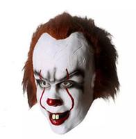 ingrosso schermi di giocattoli in plastica-Nuova mascherina di Halloween GIOCATTOLO Pennywise Costume E 'il film di Stephen King è spaventoso uomo Clown Mask Cosplay Prop