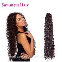 Wholesale water wave hair freetress resale online - Freetress Hair Curly Crochet Wave Pre Loop Crochet Twist quot Brazilian Curly Hair Braiding Water Braids Synthetic Wngtm