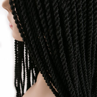 Wholesale Curly One Piece Synthetic Extensions - Ombre Crochet Braids one pack, 30strands pack 18'',small Senegalese Twist Hair Synthetic Braiding Hair extensions