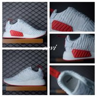 Wholesale New NMD R2 Women Men Running Shoes Nmd Runner R2 Pk Primeknit Triple White Black Red Ultra Boost Fashion Flat Sports Sneakers