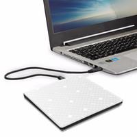 schlanke tragbare dvd großhandel-Yahey Touch Control USB 3.0 Ultra Slim Tragbare CD-ROM Optisches Laufwerk Externer DVD +/- RW Brenner Writer Player für Computer Macbook