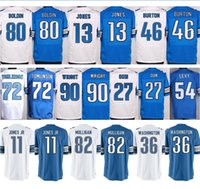 Baratos # 13 TJ Jones Azul Blanco # 11 Marvin Jones Jr. # 27 Glover Quin # 34 Zach Zenner # 36 Dwayne Washington Jerseys