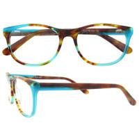 Wholesale Eyeglasses Vintage Retro - Fashion Acetate women Eyeglasses frame retro optical brand designer myopia clear glasses frame Oculos De Grau