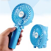 Wholesale Foldable Hand Fans Operated Rechargeable Handheld Mini Fan Electric Personal Fans Hand Bar Fan
