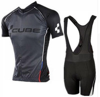 Wholesale Cube Cycle Shorts - 4 styles for choose Cube Team Cycling Jersey bike shorts set Bike Wear team jersey Short sleeve cycling shorts suit #wk28