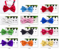 Этап исполнения Shinny Glitter Sequin Bows Tie Men Women Boys Girls Pre Tied Bow Tie Party Dance Cost Необычные плакаты