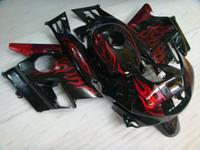 Wholesale 1994 Honda Fairing Body Kit - Fairing Kits CBR 600 F2 93 94 Bodywork CBR600 F2 91 92 Black Red Flame Body Kits for Honda Cbr600 1991 1991 - 1994