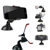 Wholesale iphone 5s camera mount resale online - Universal Windshield Car Cell Phone Mount Bracket Holder Cupule Black for iPhone S C Sumsang Smart Phone PDS GPS Camera Recoder