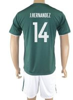 Customized 17-18 New Mexico men 14 Set pullover di calcio CHICHARITO, a buon mercato Athletic Outdoor 14 J.HERNANDEZ 11 AQUINO Soccer Wear uniformi kit