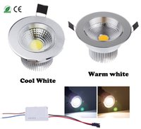 diammable 7 Watts COB LED Plafonnier Downlight Warm / Cool White Spotlight Lampe d'éclairage encastrée, remplacement d'ampoule halogène
