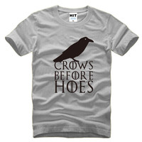 Wholesale Men Hoes - 2016 Newest Summer Fashion Leisure Sports Men Men's T-shirt TV Rights Play Game Of Thrones Crows Before Hoes