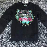 Wholesale Ladies Short Sleeve Sweatshirts - KEVZO embroider tiger herd fleeces Sweater Fashion Men Woen o-neck Hoody Sweatshirt Women Hoodies lady Hoodies Europe American