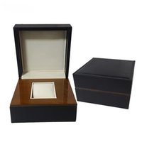 Wholesale Cheap Lacquer - New Wooden Watches Box outside PU Leather Glossy Lacquer Cheap Wood Watch Box with pillow